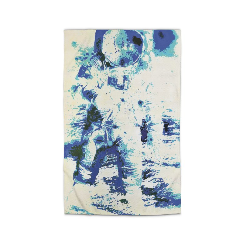 Astronaut in Cool Blue Planet Exploration Home Rug by MariecorAgravante's Artist Shop