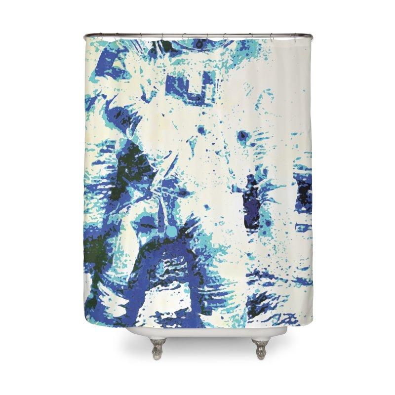 Astronaut in Cool Blue Planet Exploration Home Shower Curtain by MariecorAgravante's Artist Shop