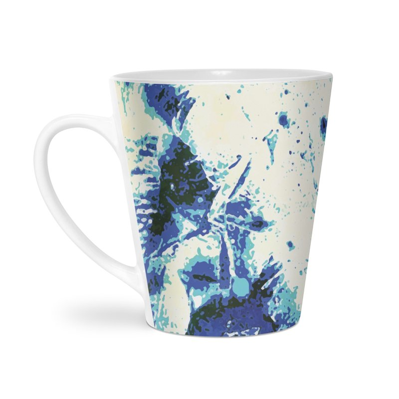 Astronaut in Cool Blue Planet Exploration Accessories Latte Mug by MariecorAgravante's Artist Shop