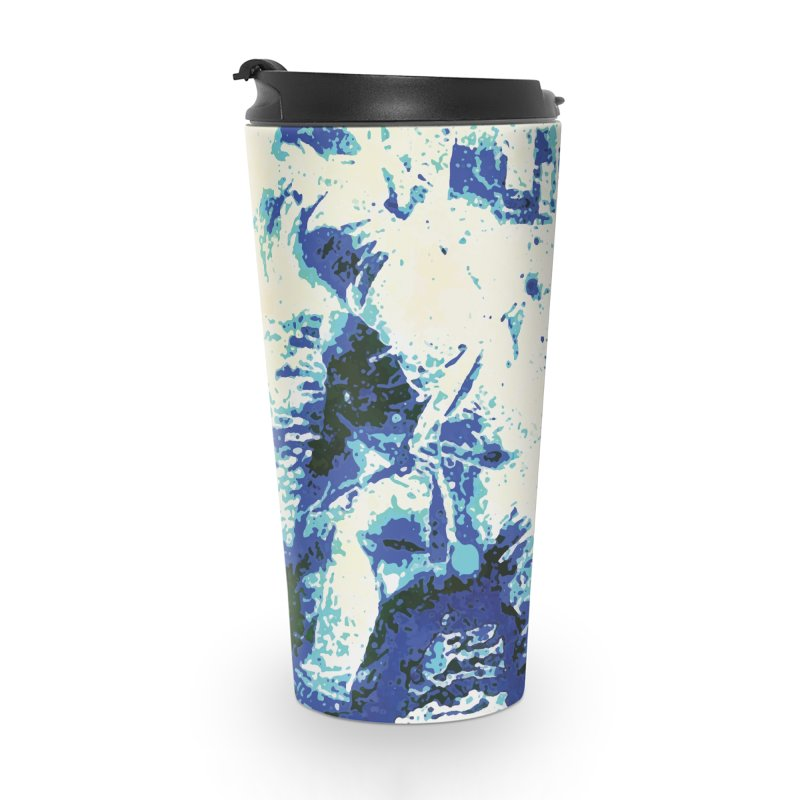 Astronaut in Cool Blue Planet Exploration Accessories Travel Mug by MariecorAgravante's Artist Shop