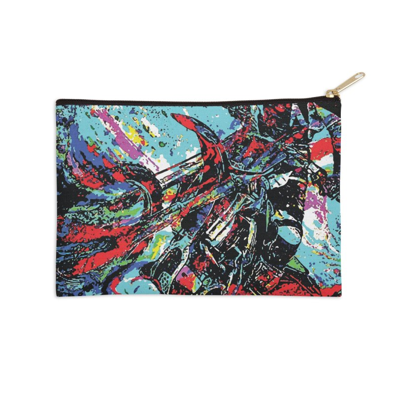 Biking Rugged Accessories Zip Pouch by MariecorAgravante's Artist Shop