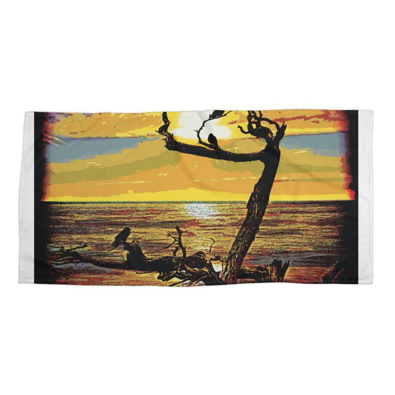 Birds by the Sea Accessories Beach Towel by MariecorAgravante's Artist Shop