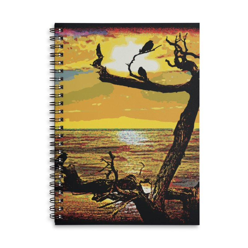 Birds by the Sea Accessories Lined Spiral Notebook by MariecorAgravante's Artist Shop