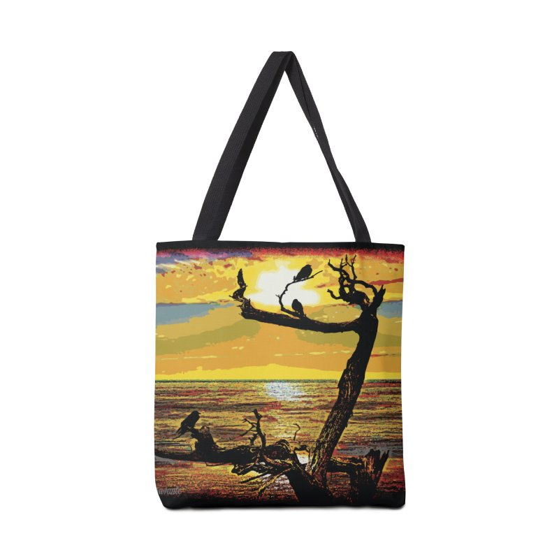 Birds by the Sea Accessories Bag by MariecorAgravante's Artist Shop
