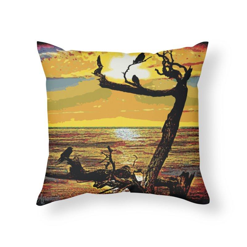Birds by the Sea Home Throw Pillow by MariecorAgravante's Artist Shop