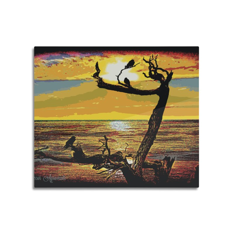Birds by the Sea Home Mounted Aluminum Print by MariecorAgravante's Artist Shop