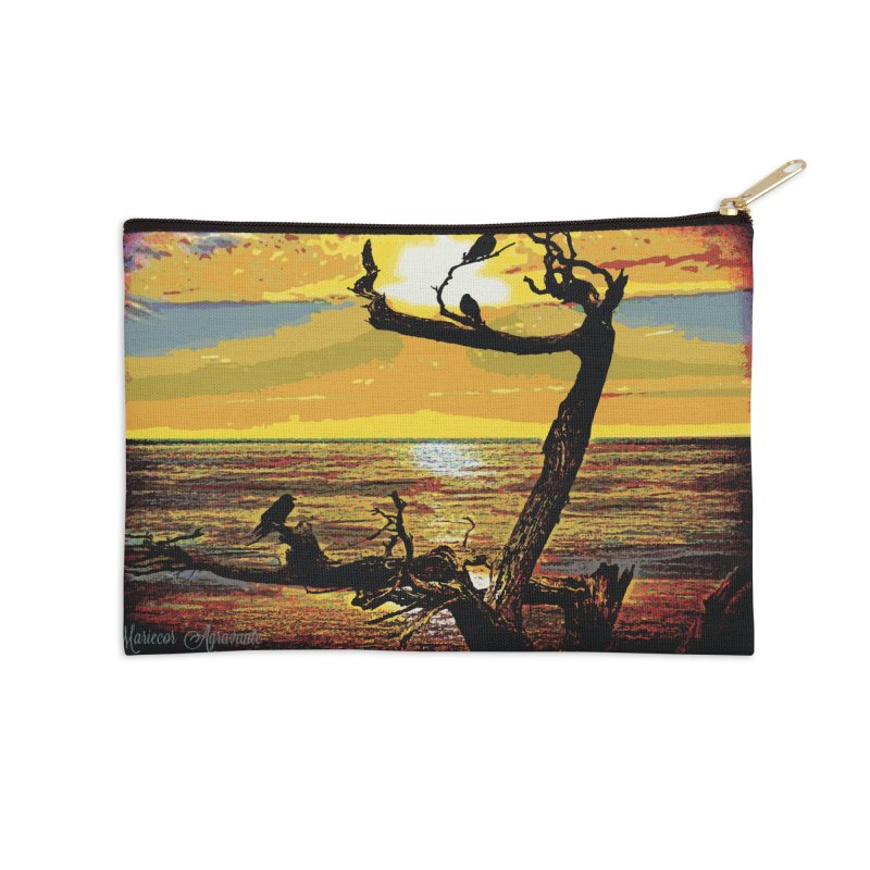 Birds by the Sea Accessories Zip Pouch by MariecorAgravante's Artist Shop
