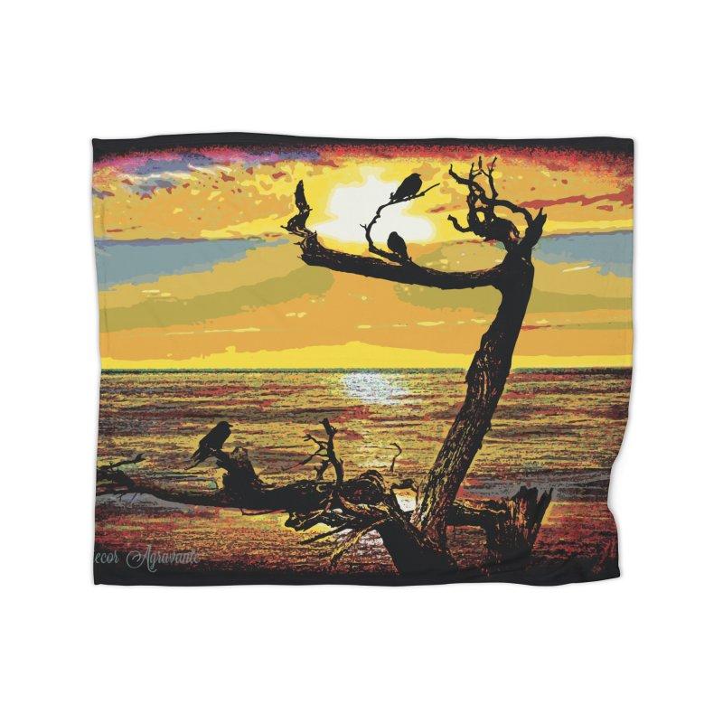 Birds by the Sea Home Fleece Blanket Blanket by MariecorAgravante's Artist Shop