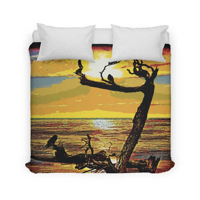 Birds by the Sea Home Duvet by MariecorAgravante's Artist Shop