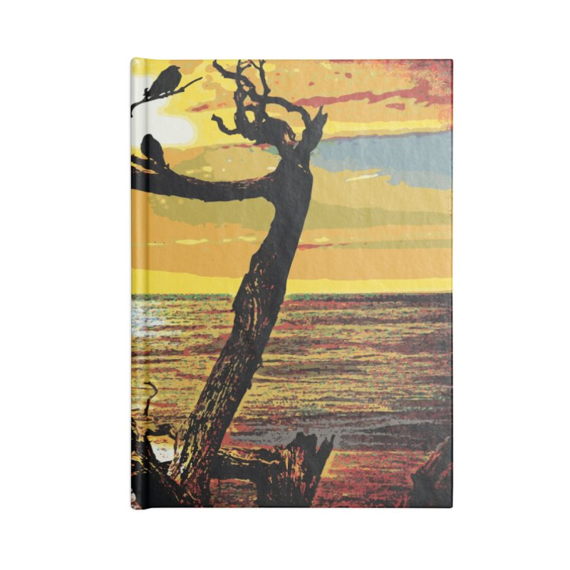Birds by the Sea Accessories Lined Journal Notebook by MariecorAgravante's Artist Shop