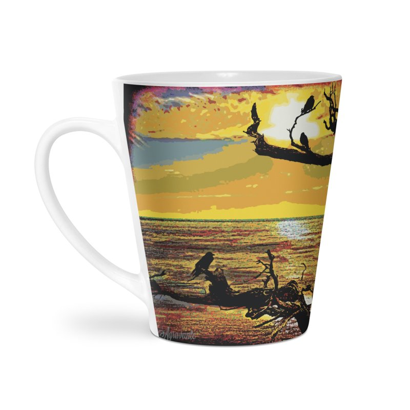 Birds by the Sea Accessories Latte Mug by MariecorAgravante's Artist Shop