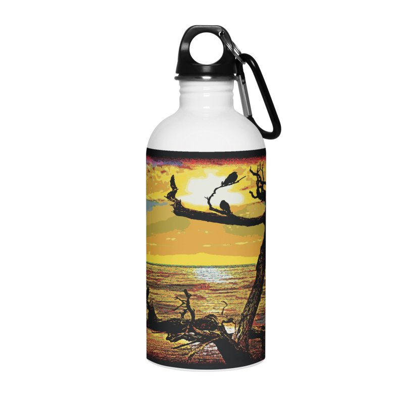Birds by the Sea Accessories Water Bottle by MariecorAgravante's Artist Shop
