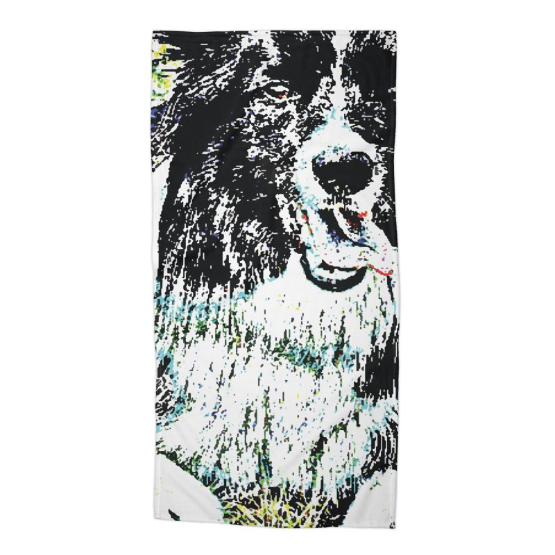 Border Collie Accessories Beach Towel by MariecorAgravante's Artist Shop