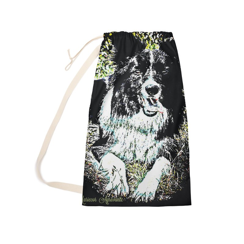 Border Collie Accessories Laundry Bag Bag by MariecorAgravante's Artist Shop