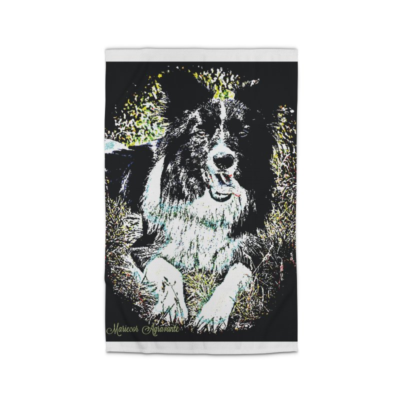 Border Collie Home Rug by MariecorAgravante's Artist Shop
