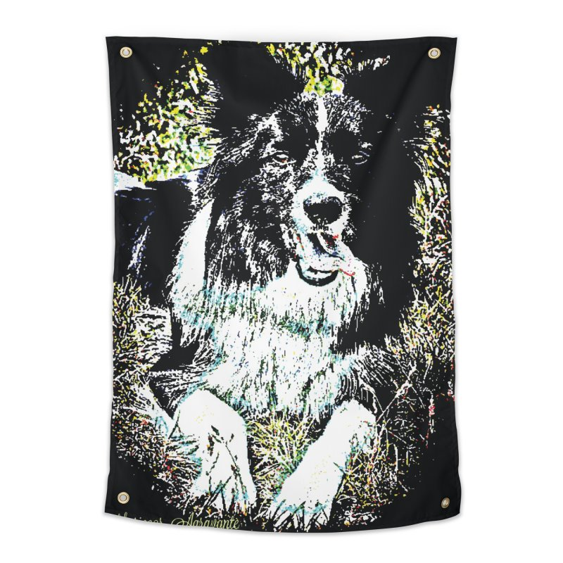 Border Collie Home Tapestry by MariecorAgravante's Artist Shop