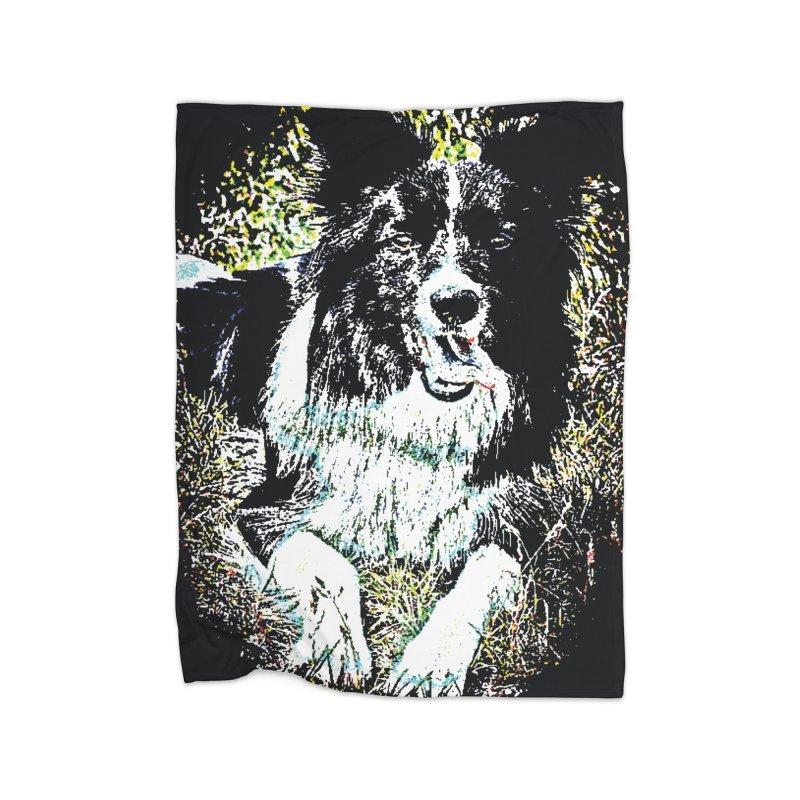 Border Collie Home Blanket by MariecorAgravante's Artist Shop