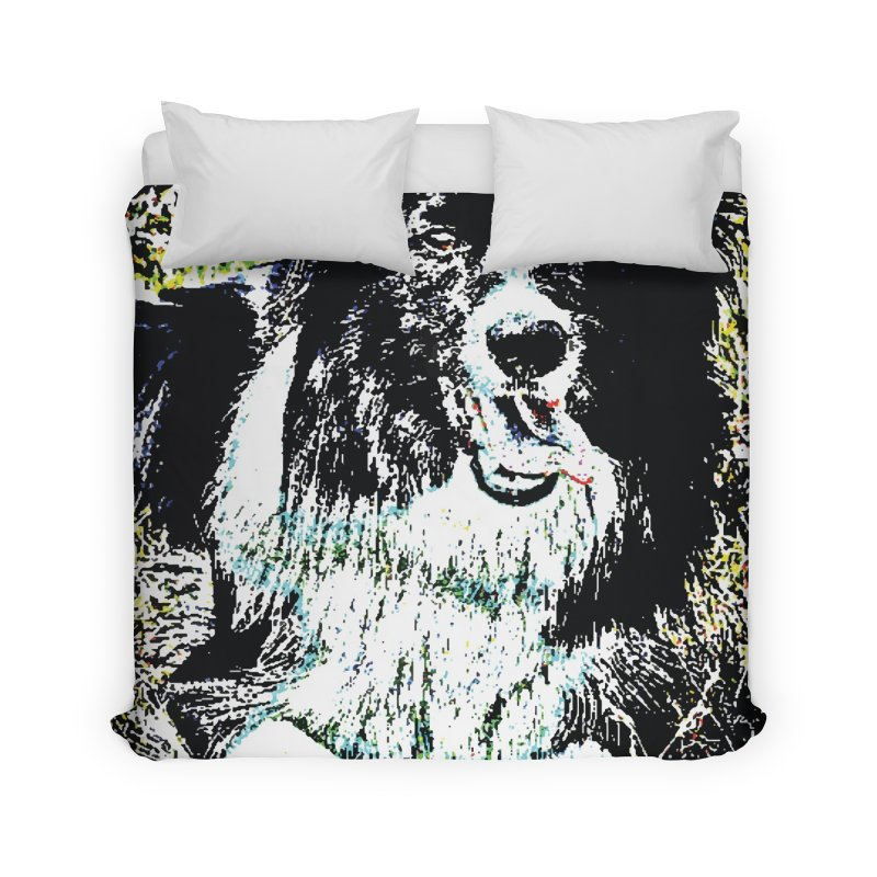 Border Collie Home Duvet by MariecorAgravante's Artist Shop