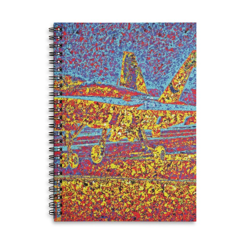 Carrier Takeoff Accessories Lined Spiral Notebook by MariecorAgravante's Artist Shop