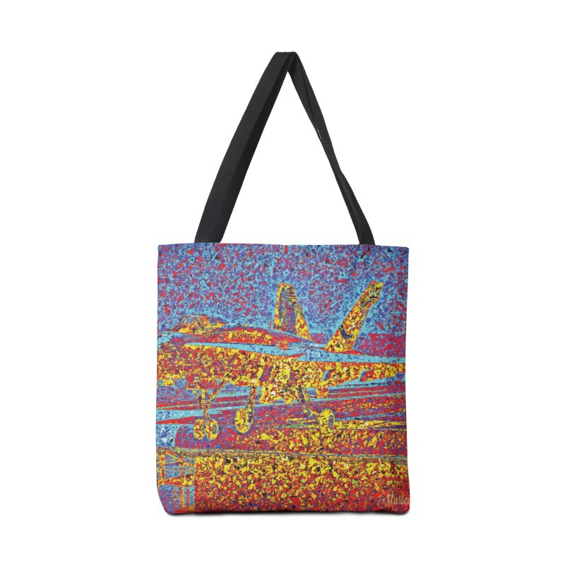 Carrier Takeoff Accessories Tote Bag Bag by MariecorAgravante's Artist Shop