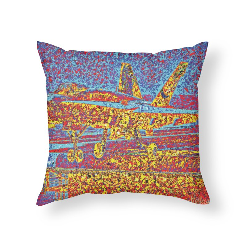 Carrier Takeoff Home Throw Pillow by MariecorAgravante's Artist Shop