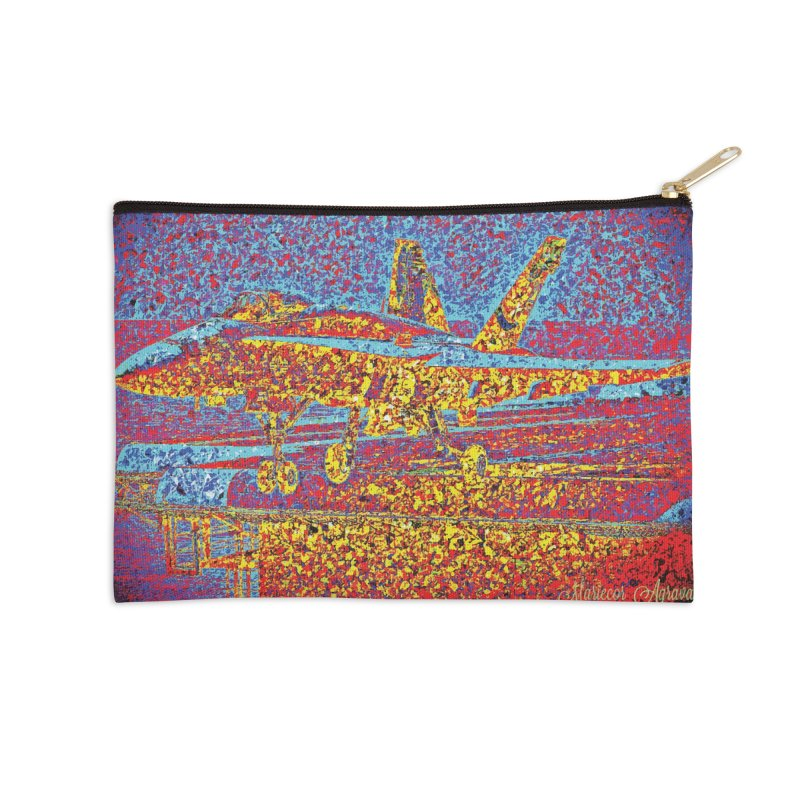 Carrier Takeoff Accessories Zip Pouch by MariecorAgravante's Artist Shop