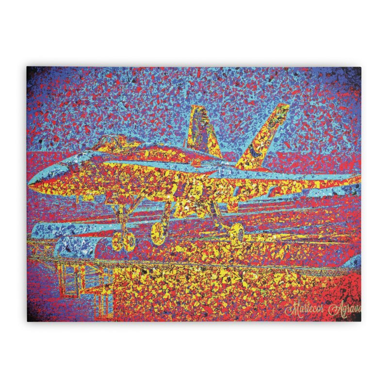 Carrier Takeoff Home Stretched Canvas by MariecorAgravante's Artist Shop
