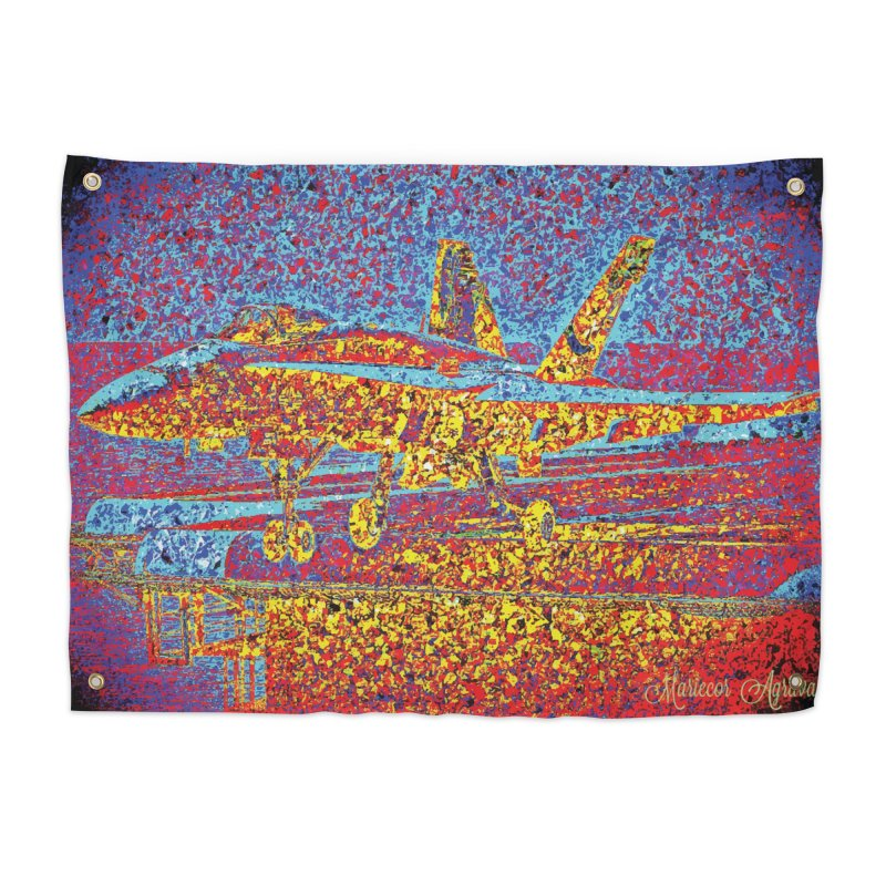 Carrier Takeoff Home Tapestry by MariecorAgravante's Artist Shop