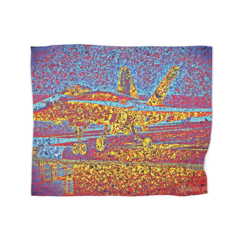 Carrier Takeoff Home Blanket by MariecorAgravante's Artist Shop