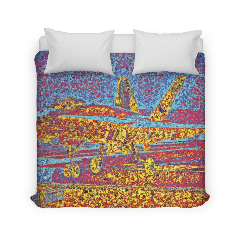 Carrier Takeoff Home Duvet by MariecorAgravante's Artist Shop