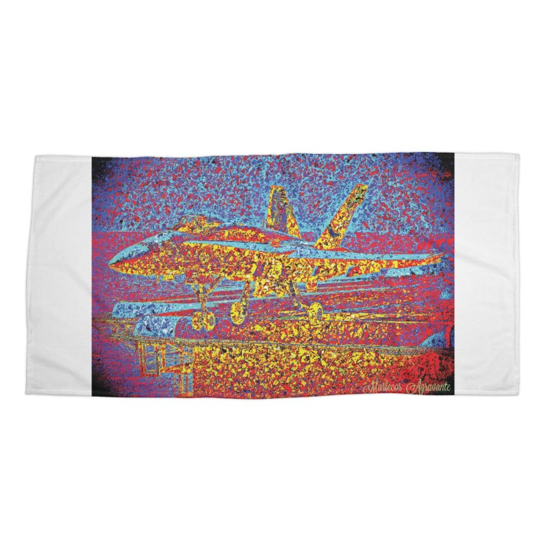 Carrier Takeoff Accessories Beach Towel by MariecorAgravante's Artist Shop
