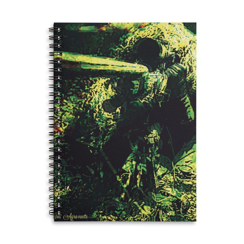 Covered Sniper and Spotter Accessories Lined Spiral Notebook by MariecorAgravante's Artist Shop