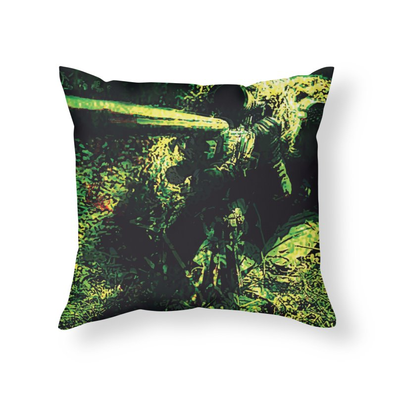 Covered Sniper and Spotter Home Throw Pillow by MariecorAgravante's Artist Shop