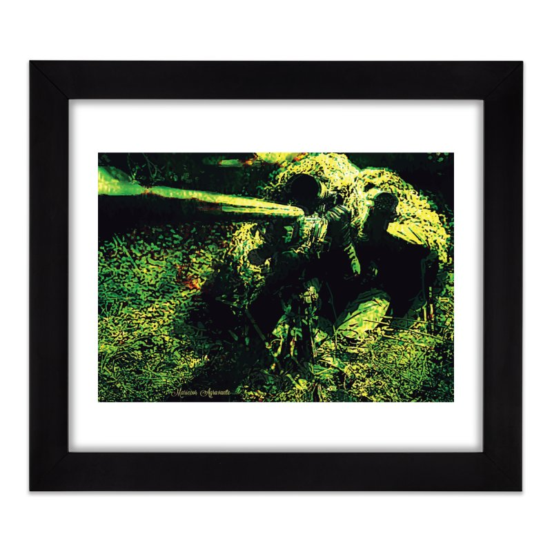 Covered Sniper and Spotter Home Framed Fine Art Print by MariecorAgravante's Artist Shop