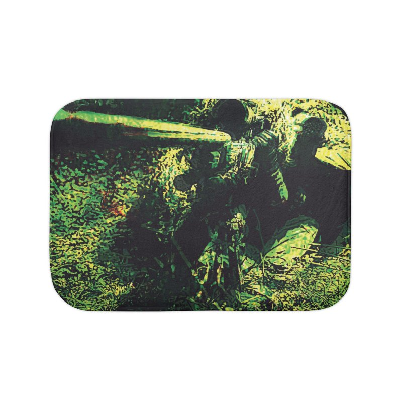 Covered Sniper and Spotter Home Bath Mat by MariecorAgravante's Artist Shop