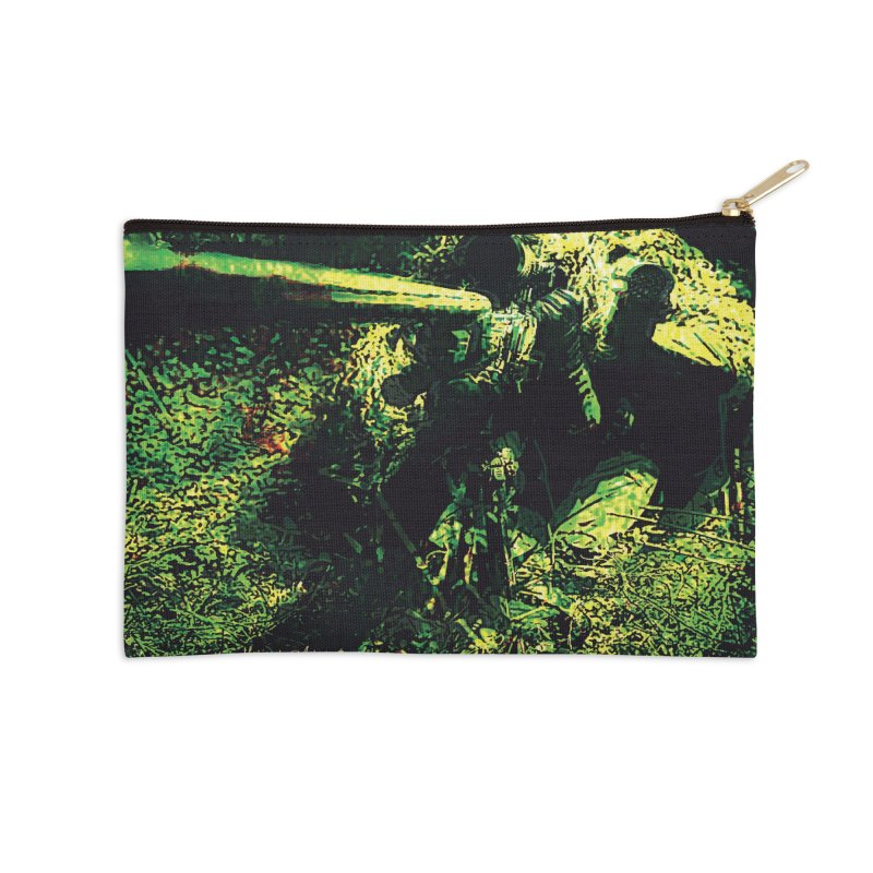Covered Sniper and Spotter Accessories Zip Pouch by MariecorAgravante's Artist Shop
