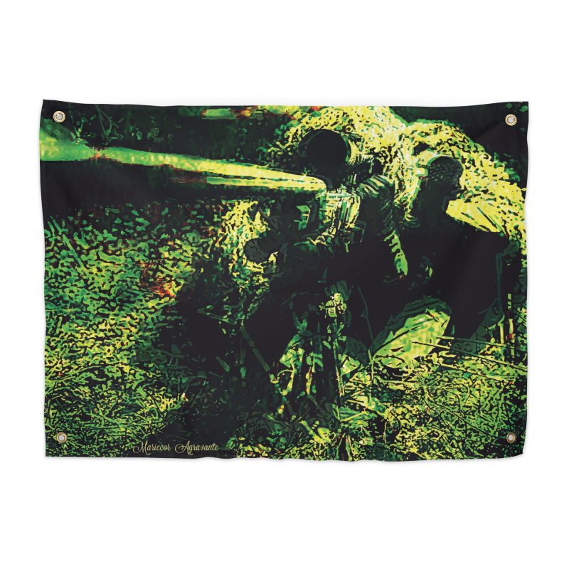 Covered Sniper and Spotter Home Tapestry by MariecorAgravante's Artist Shop