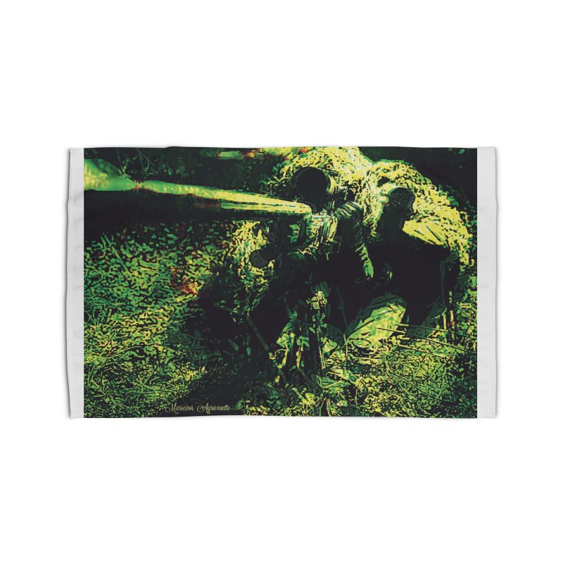 Covered Sniper and Spotter Home Rug by MariecorAgravante's Artist Shop