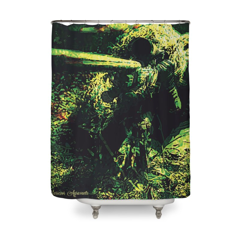 Covered Sniper and Spotter Home Shower Curtain by MariecorAgravante's Artist Shop