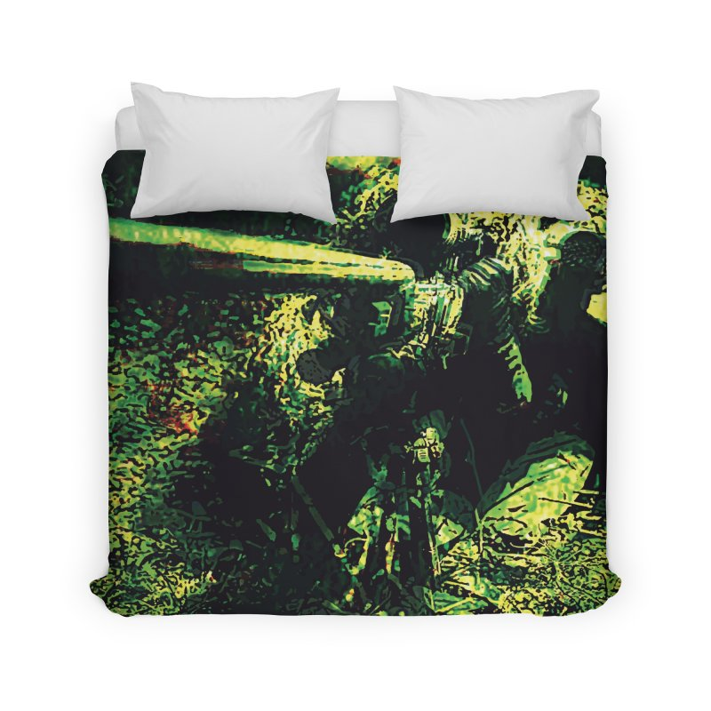 Covered Sniper and Spotter Home Duvet by MariecorAgravante's Artist Shop