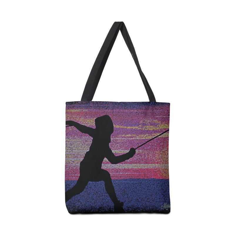 Fencing Sunrise Accessories Tote Bag Bag by MariecorAgravante's Artist Shop