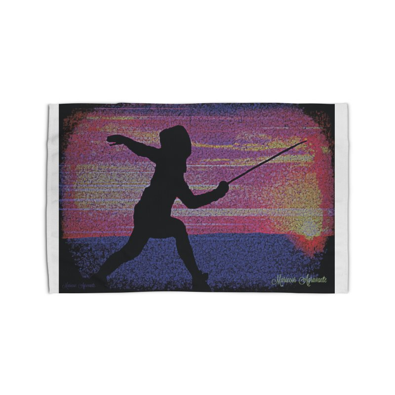 Fencing Sunrise Home Rug by MariecorAgravante's Artist Shop