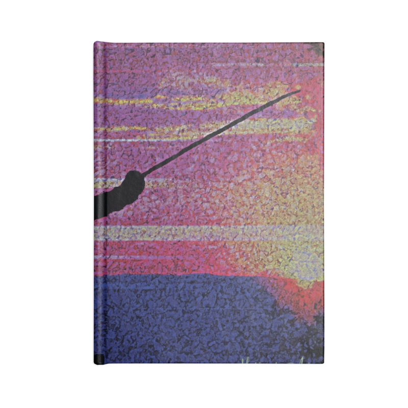 Fencing Sunrise Accessories Blank Journal Notebook by MariecorAgravante's Artist Shop