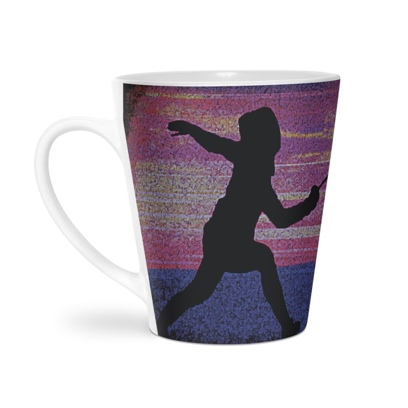 Fencing Sunrise Accessories Latte Mug by MariecorAgravante's Artist Shop