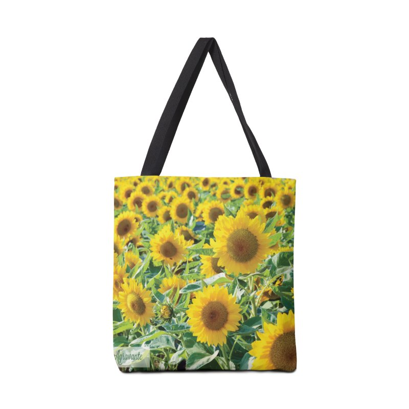 Landscape Sunflower Field Accessories Tote Bag Bag by MariecorAgravante's Artist Shop