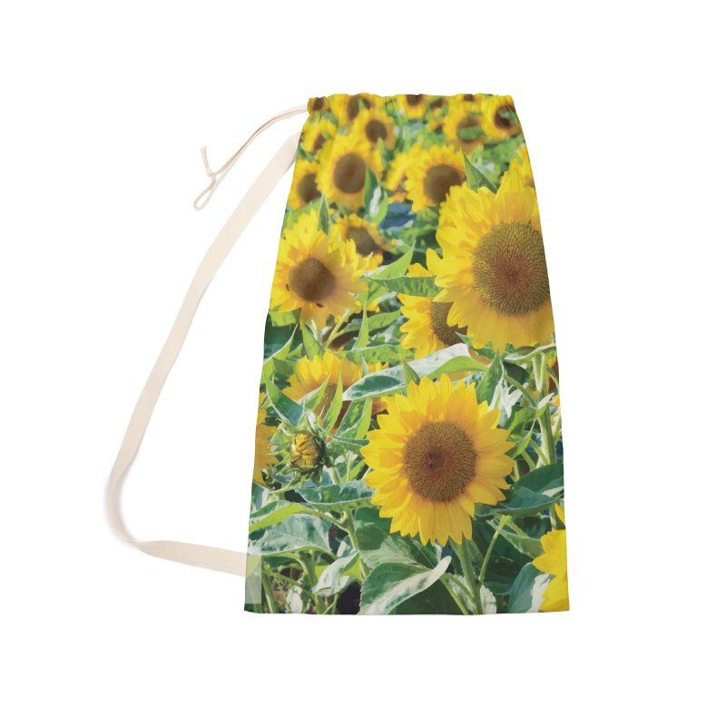 Landscape Sunflower Field Accessories Laundry Bag Bag by MariecorAgravante's Artist Shop