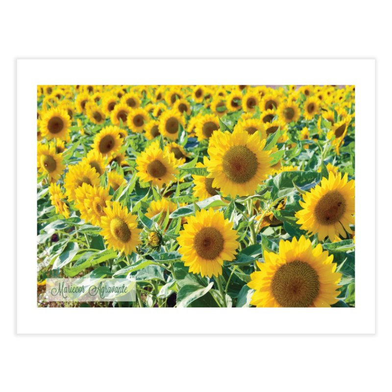 Landscape Sunflower Field Home Fine Art Print by MariecorAgravante's Artist Shop