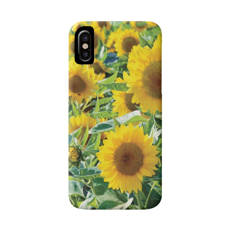 Landscape Sunflower Field Accessories Phone Case by MariecorAgravante's Artist Shop