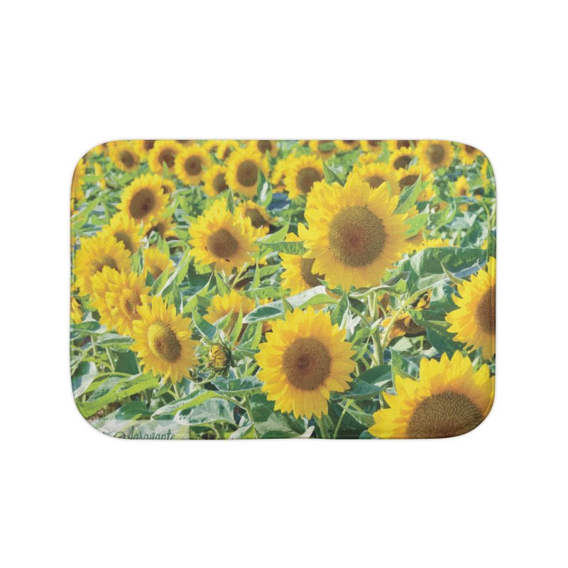Landscape Sunflower Field Home Bath Mat by MariecorAgravante's Artist Shop