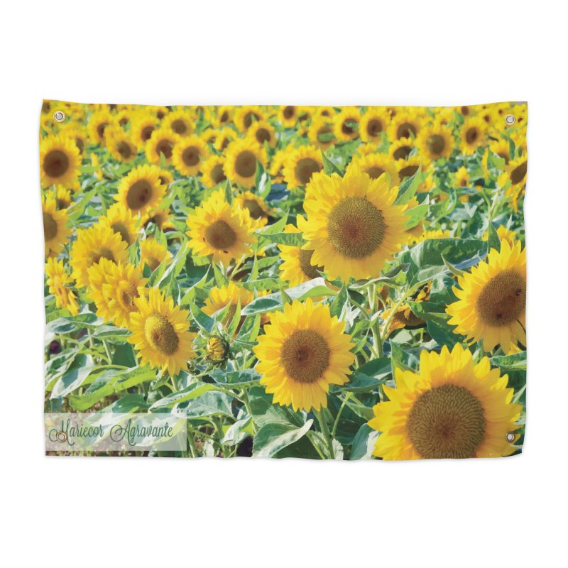 Landscape Sunflower Field Home Tapestry by MariecorAgravante's Artist Shop